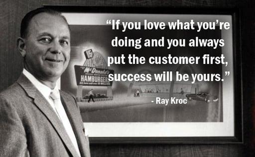 hello customer blog ray kroc quote