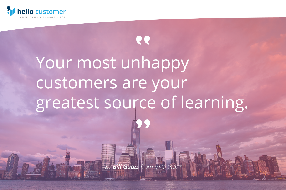 Why negative customer feedback is very positive