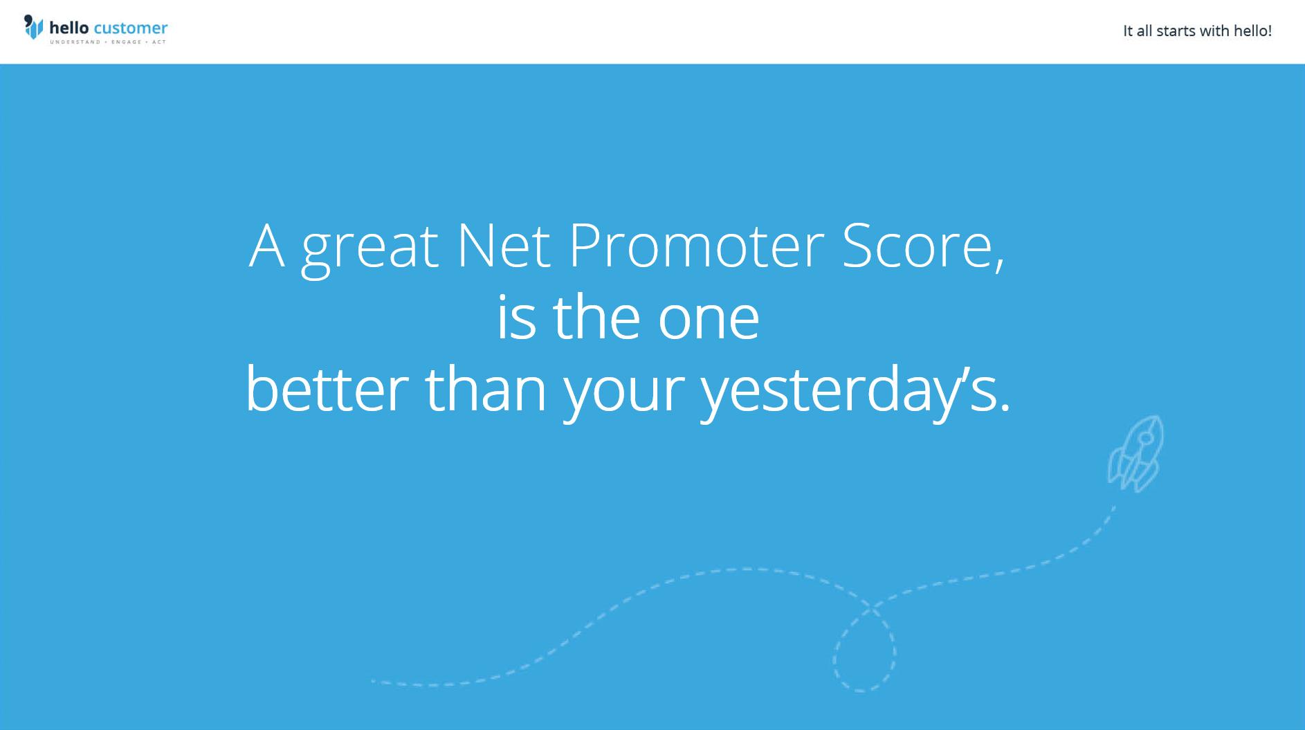 What is a great NPS score ?